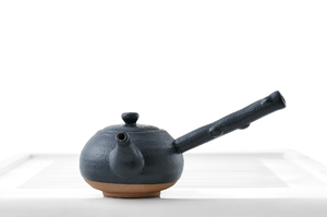 Round Teapot With Black Glaze