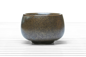 Greenish Brown Round Tea Bowl