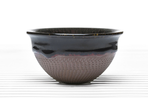 Hemisphere Tea Bowl With Brown Crackle Glaze